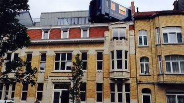 Une auberge aux airs de train à Schaerbeek