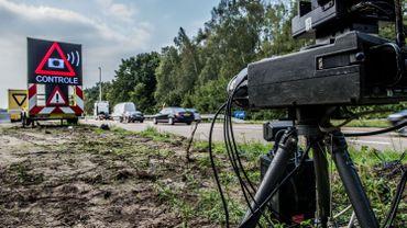 Un contrôle de vitesse à Zoersel (province d'Anvers), le 4 septembre 2014.