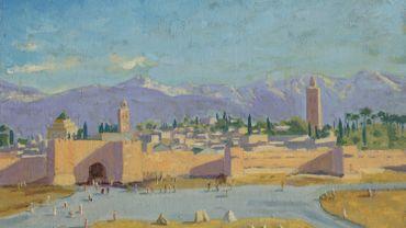 """""""Tower of the Koutoubia Mosque"""" de Winston Churchill sera proposé aux enchères le 1er mars prochain chez Christie's."""