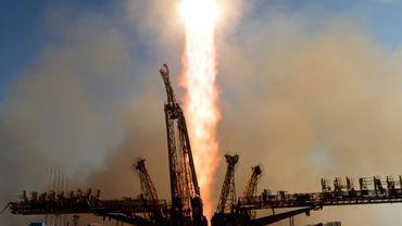 La fusée Soyouz a décollé avec à son bord la torche olympique