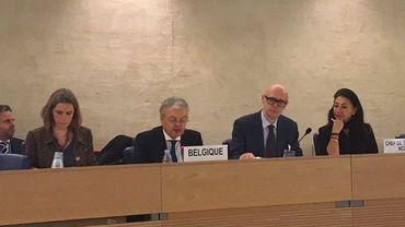 Didier Reynders devant l'ONU.