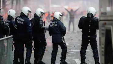 Manifestation nationale - 112 policiers blessés à Bruxelles