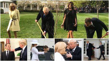 Emmanuel Macron et Donald Trump: les 5 images qui ont marqué leur rencontre à Washington