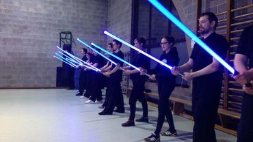 Première académie belge de maniement du sabre-laser à Celles