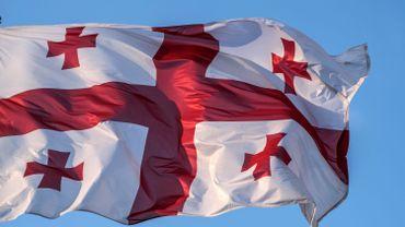 Le drapeau de la Géorgie