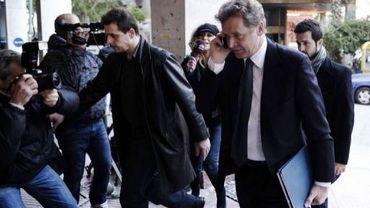 Le représentant du FMI Poul Thomsen à son arrivée au ministère de l'Economie le 20 janvier 2012 à Athènes
