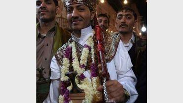 Un marié en costume traditionnel, le 7 octobre 2012 à Sanaa