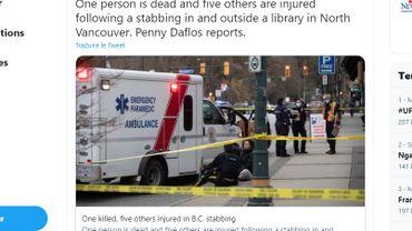 Six personnes ont été hospitalisées après l'attaque, menée apparemment par un homme isolé dont on ignore les motivations.