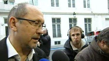 Le Ministre de l'Economie Johan Vande Lanotte à l'entame des discussions ce samedi à 17 heures.