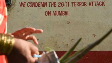 Un graffiti commémorant les attaques qui ont touchées Bombay entre le 26 et le 29 novembre 2008