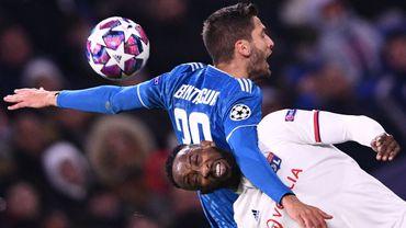 Duel serré durant le choc OL-Juventus
