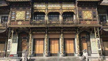 Le balcon du Pavillon chinois est soutenu par un échafaudage depuis 2013.