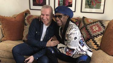 Neil Rodgers et le couturier Jean Paul Gautier.