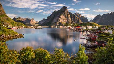 Les Lofoten Islands en Norvège: dans le pays jamais un hiver n'avait été aussi clément depuis le début des relevés en 1900.