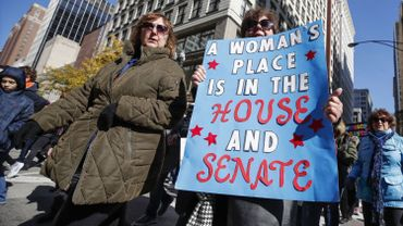 Une manifestation de femmes contre Trump en octobre 2018 à Chicago
