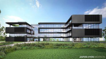 ING a voulu un bâtiment exemplaire en matière de développement durable: basse énergie, lumière naturelle, récupération des eaux de pluie, panneaux solaires et photovoltaïques.