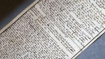 """Manuscrit des """"Cent Vingt Journées de Sodome"""", écrit par Sade à la Bastille"""