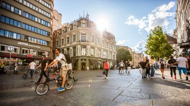 Le centre d'Oslo (Norvège) fait la part belle aux piétons et aux cyclistes.