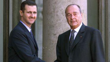 Bachar Al Assad et Jacques Chirac