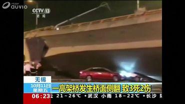 Trois morts dans l'effondrement spectaculaire d'un pont en Chine (vidéo)