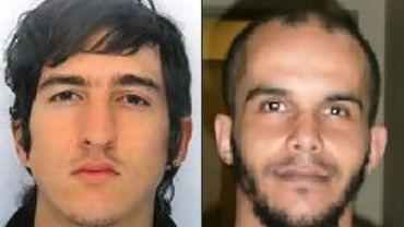Clement Baur et Mahiedine Merabet, les deux suspects auraient des liens avec la Belgique