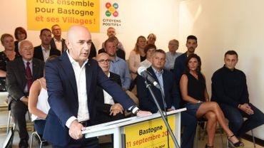 Jean Pierre Lutgen hier lors de la présentation de la liste 'Citoyens +' à Bastogne.