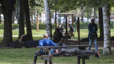 Le parc maximilien, le 24 août.