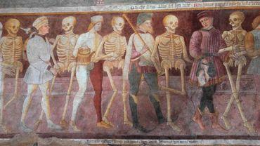 Danse macabre de Clusone (Italie) - Peinture de Giacomo Borlone de Buschis