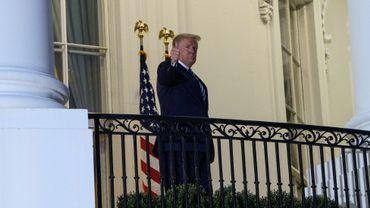 Donald Trump à son retour à la Maison blanche.