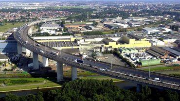 14 km de files sur le ring intérieur de Bruxelles peu avant le viaduc de Vilvorde