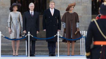 Le Roi et la Reine sont en visite aux Pays-bas pour trois jours