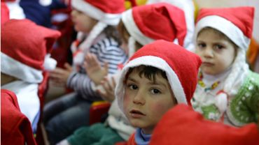 Illustration: des enfants syriens célèbrent Noël à Damas