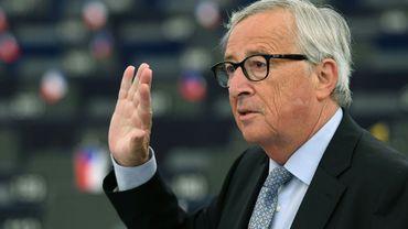 Le président sortant de la Commission européenne, Jean-Claude Juncker, le 18 septembre 2019 au Parlement européen le 18 septembre 2019