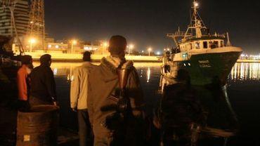 Illustration : un navire à Benghazi