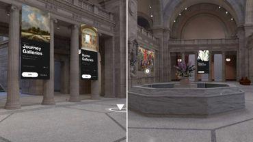 """Le Met a recréé des répliques virtuelles de ses galeries pour l'initiative """"The Met Unframed""""."""
