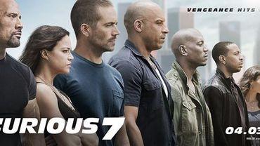 """es acteurs principaux du film sur l'affiche de """"Furious 7"""" dont la sortie est prévue pour avril 2015"""