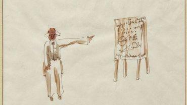 """""""Le dessin de la découverte de la planète du  Petit Prince par une astronome turc"""" de Antoine de Saint - Exupéry"""
