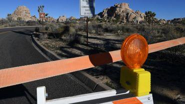 """Un accès au parc national de Joshua Tree, en Californie, fermé en raison du """"shutdown"""", qui paralyse partiellement l'administration américaine"""