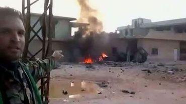 """La ville de Rastane avait été """"libérée"""" par les insurgés syriens. Mais l'armée entend la reprendre."""