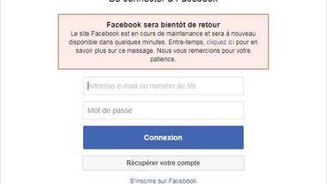Facebook et Instagram touchés par une panne