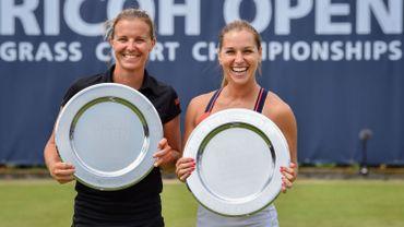 Kirsten Flipkens remporte le tournoi de double avec Dominika Cibulkova à Rosmalen