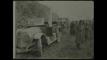 Armistice : la délégation allemande arrive à Rethondes