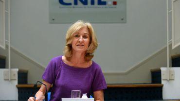Isabelle Falque-Pierrotin, présidente de la (CNIL), à Paris le 8 avril 2016