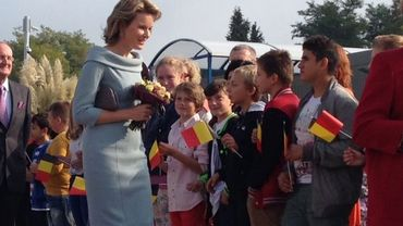La reine Mathilde a visité la section belge de l'école internationale