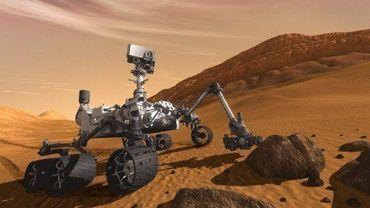 Dessin du robot Curiosity de la Nasa