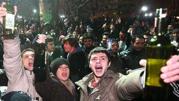 En 2011, des jeunes turcs manifestent pour le droit de consommer de l'alcool en public