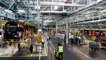 Une chaîne d'assemblage Ford à Wayne, dans le Michigan, le 14 décembre 2011