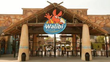 L'entrée du parc d'attractions, situé près de Wavre.