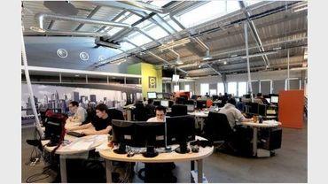 Bureaux de la société d'hébergement sur Internet OVH, en mars 2011, à Roubaix
