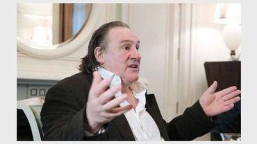 Gérard Depardieu, le 5 janvier 2013 lors de sa rencontre avec Vladimir Poutine